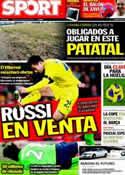 Portada diario Sport del 29 de Marzo de 2011