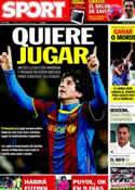 Portada diario Sport del 31 de Marzo de 2011