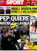 Portada diario Sport del 1 de Abril de 2011