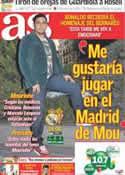 Portada diario AS del 2 de Abril de 2011