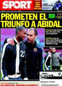 Portada diario Sport del 2 de Abril de 2011