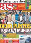 Portada diario AS del 3 de Abril de 2011
