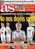 Portada diario AS del 4 de Abril de 2011