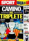 Portada diario Sport del 4 de Abril de 2011