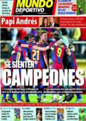Portada Mundo Deportivo del 4 de Abril de 2011