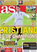 Portada diario AS del 5 de Abril de 2011