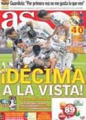 Portada diario AS del 6 de Abril de 2011