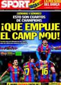 Portada diario Sport del 6 de Abril de 2011