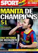 Portada diario Sport del 7 de Abril de 2011