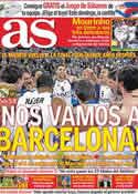 Portada diario AS del 8 de Abril de 2011