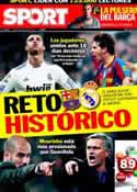 Portada diario Sport del 8 de Abril de 2011