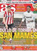 Portada diario AS del 9 de Abril de 2011
