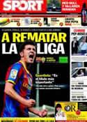 Portada diario Sport del 9 de Abril de 2011