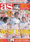 Portada diario AS del 10 de Abril de 2011