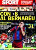 Portada diario Sport del 10 de Abril de 2011