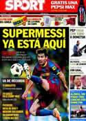 Portada diario Sport del 11 de Abril de 2011