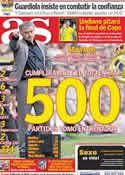 Portada diario AS del 12 de Abril de 2011
