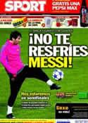 Portada diario Sport del 12 de Abril de 2011