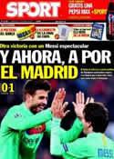 Portada diario Sport del 13 de Abril de 2011