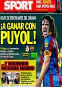 Portada diario Sport del 16 de Abril de 2011
