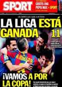 Portada diario Sport del 17 de Abril de 2011