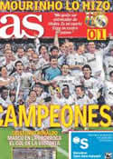 Portada diario AS del 21 de Abril de 2011