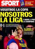 Portada diario Sport del 21 de Abril de 2011