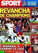 Portada diario Sport del 22 de Abril de 2011