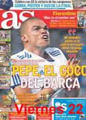 Portada diario AS del 23 de Abril de 2011