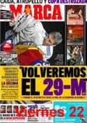Portada diario Marca del 23 de Abril de 2011