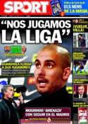 Portada diario Sport del 23 de Abril de 2011