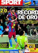Portada diario Sport del 24 de Abril de 2011