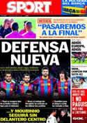 Portada diario Sport del 25 de Abril de 2011