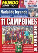 Portada Mundo Deportivo del 25 de Abril de 2011
