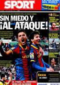 Portada diario Sport del 26 de Abril de 2011