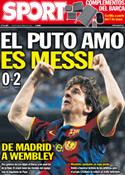 Portada diario Sport del 28 de Abril de 2011