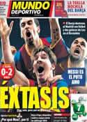 Portada Mundo Deportivo del 28 de Abril de 2011