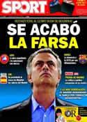 Portada diario Sport del 29 de Abril de 2011