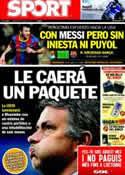 Portada diario Sport del 30 de Abril de 2011