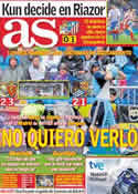 Portada diario AS del 1 de Mayo de 2011