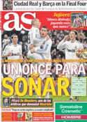 Portada diario AS del 2 de Mayo de 2011