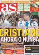 Portada diario AS del 3 de Mayo de 2011