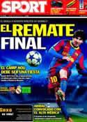 Portada diario Sport del 3 de Mayo de 2011