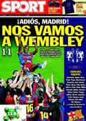 Portada diario Sport del 4 de Mayo de 2011