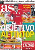 Portada diario AS del 6 de Mayo de 2011