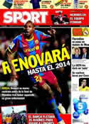 Portada diario Sport del 6 de Mayo de 2011