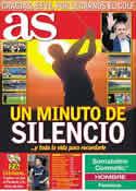 Portada diario AS del 8 de Mayo de 2011