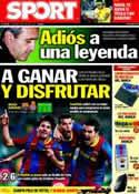 Portada diario Sport del 8 de Mayo de 2011