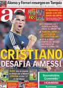 Portada diario AS del 9 de Mayo de 2011