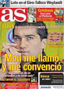 Portada diario AS del 10 de Mayo de 2011